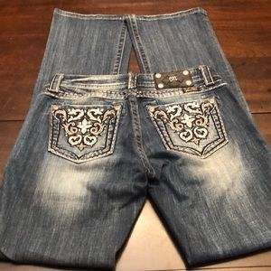 Miss Me boot cut jeans.  Size 27. Inseam 34.